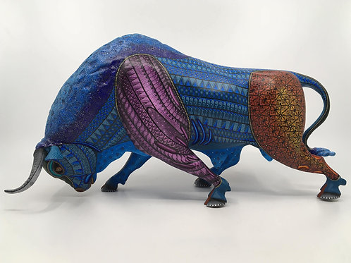 Colorful Bull Alebrije