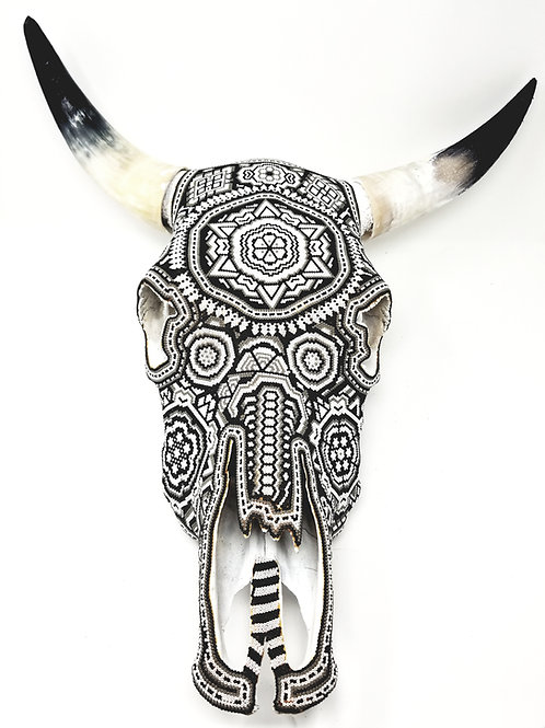Huichol Art skull