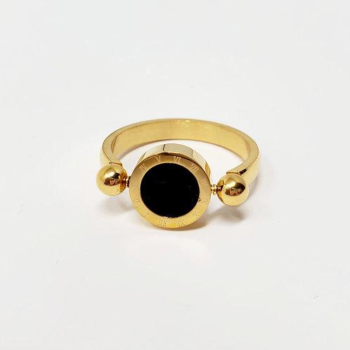 24K Gold Reversible Ring