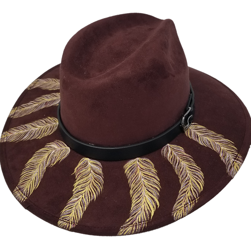 Cherry Feathers Hat