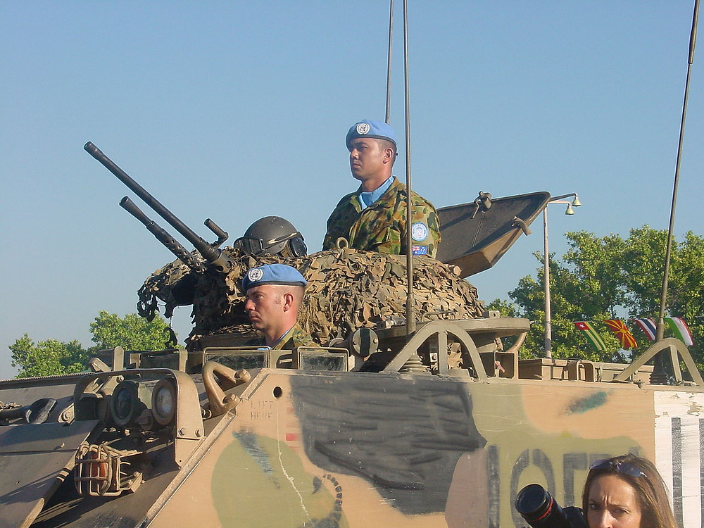 Australian peacekeepers in East Timor to secure the independence of the microstate