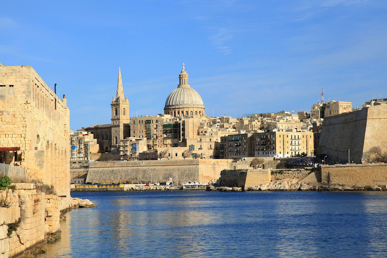 Valletta, Malta from the Mediterranean Sea