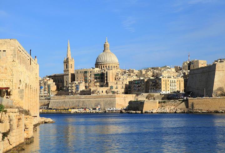 Valletta, Malta from the Mediterranean Sea