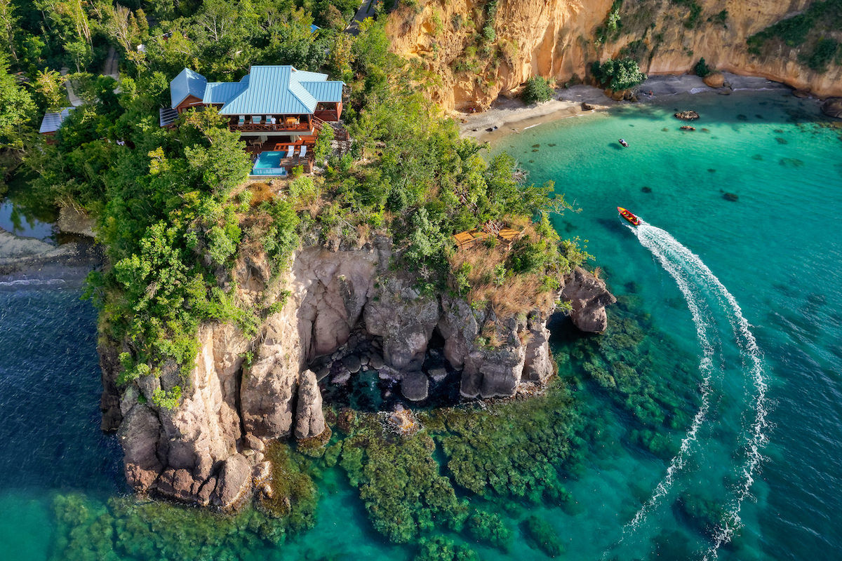 Aerial View of The Secret Bay Resort in Dominica