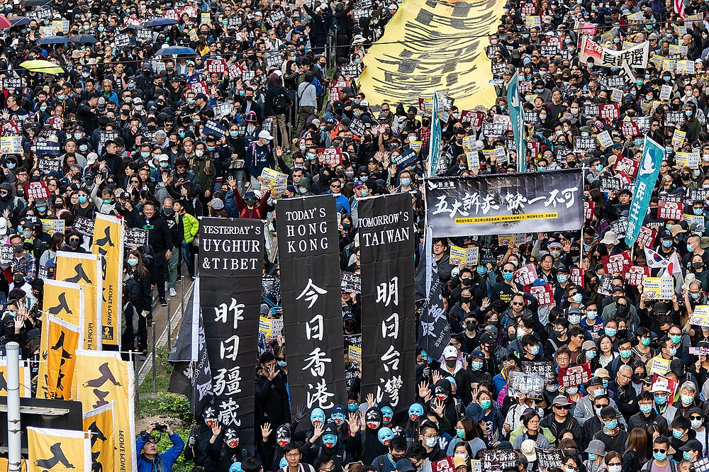 Hong Kong protest, illegal national security law, social distancing, how democracies die