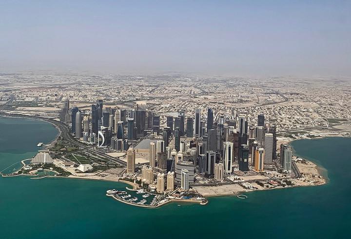 Aerial View of Doha, Qatar