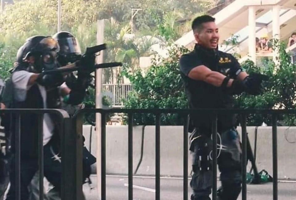 Hong Kong police brutality, hiding behind masks, how democracies die