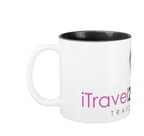 iTravel2Getaway Two Toned Coffee Cup