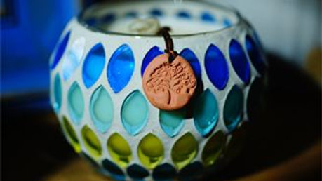 Seascape Mosaic Pot