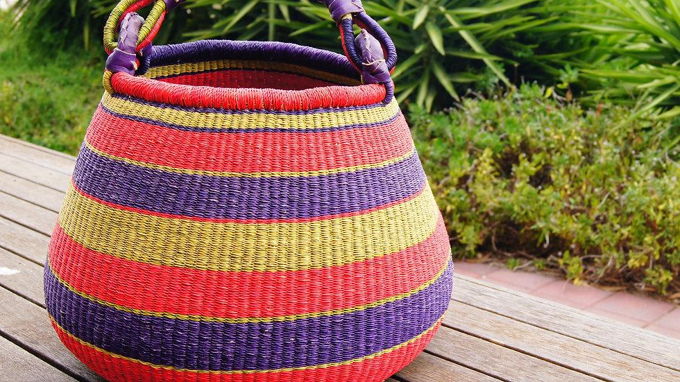 Bright Stripe.....Large Pot Basket