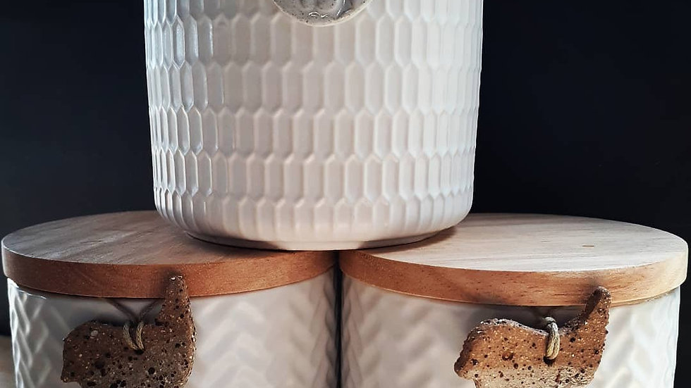 White Canisters of Soy
