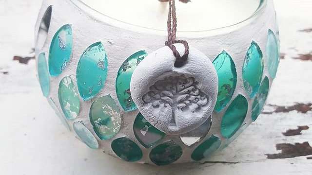 Turquoise Dreams Mosaic Pot