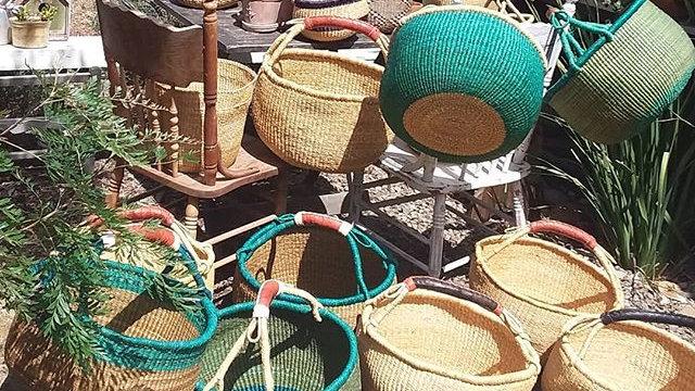 Round Market Baskets