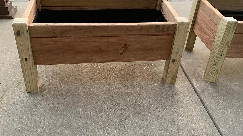 4' x 2' raised garden planters - pressure treated wood
