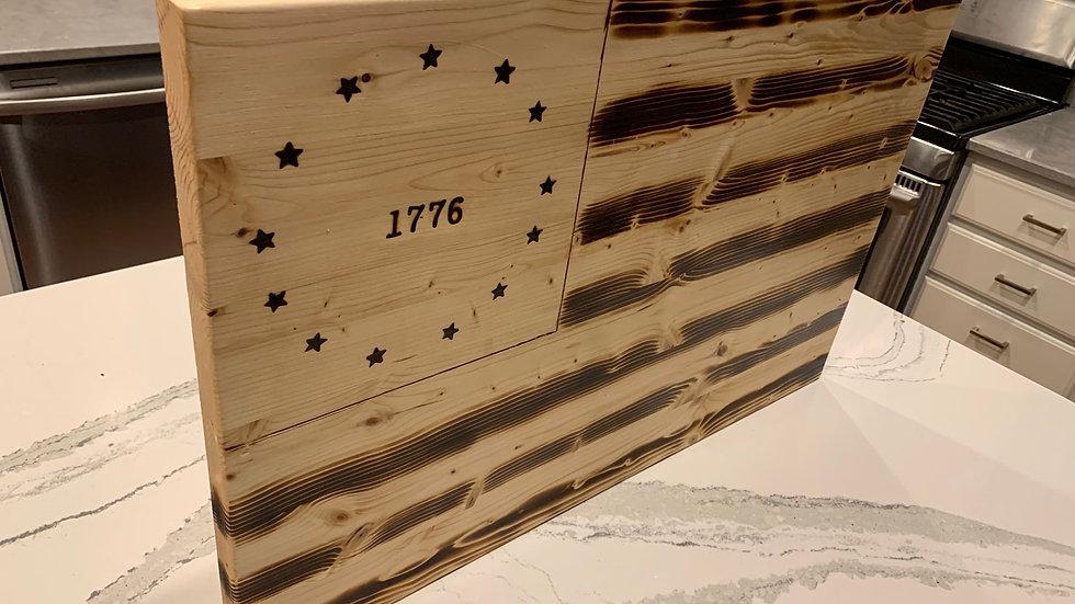 "Betsy Ross wooden flag - 29"" x 18"""