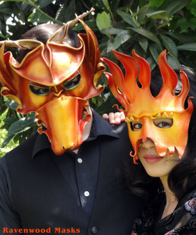 Dragon and Fire mask