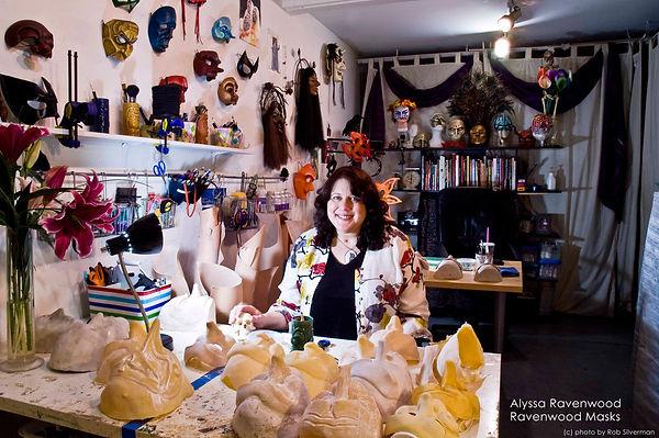 Alyssa Ravenwood in her LA studio at the Brewery Artist's Colony.