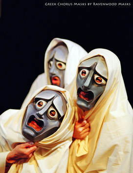 Greek Tragedy Masks