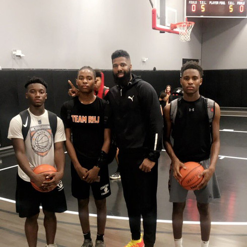 I got the opportunity to coach 3 of my Team Rondae Hollis-Jefferson players last night in the @areacodes 8th Annual Super 80 Camp All-Star game. We came away with the win 58-56. One more night of doing what we do and that's GETTIN' DUBS! #TeamRHJ @PUMAHoops @latrey15