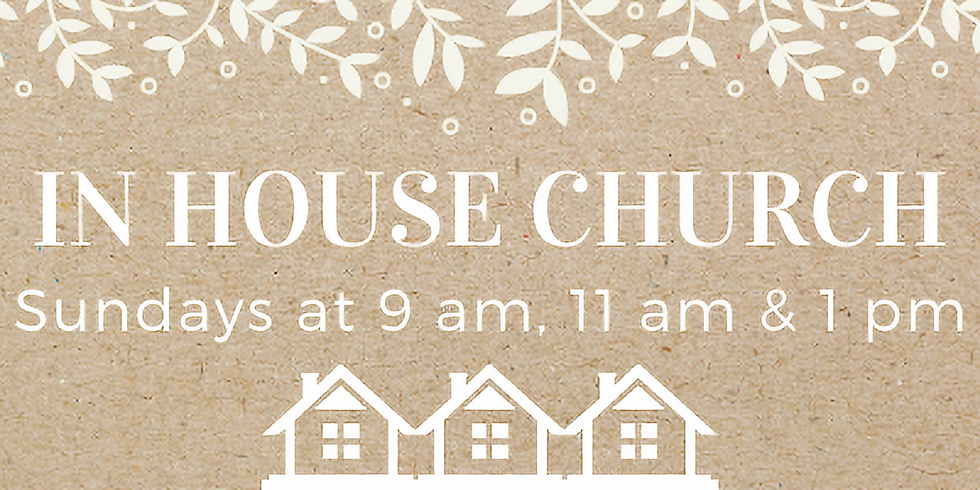 In House Church & Communion - RSVP Required