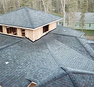 New construction roof from the top