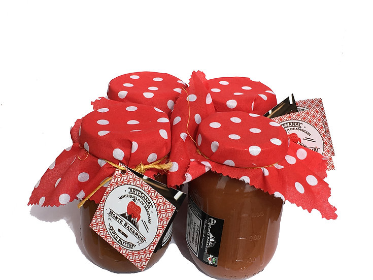 4 frascos Mantequilla de Manzana 453g Moscabado