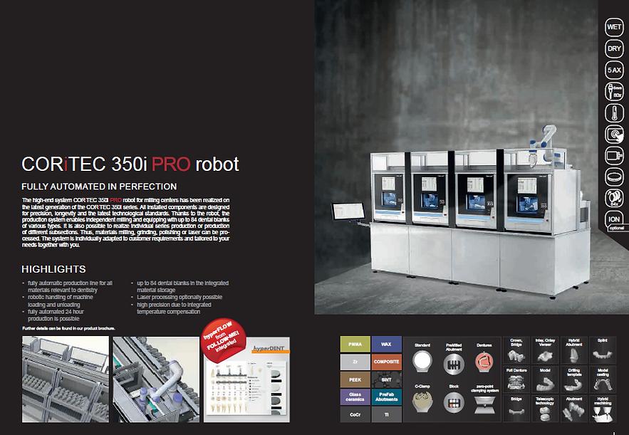 coritec 50i pro robot CNC CADCA Dental Mlling Machine