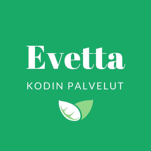 Evetta kodinpalvelut vihreä tausta logo