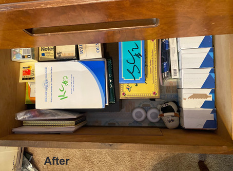 How to Organize a dresser drawer painlessly!