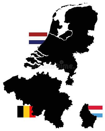 carte-du-bénélux-et-drapeaux-trois-états