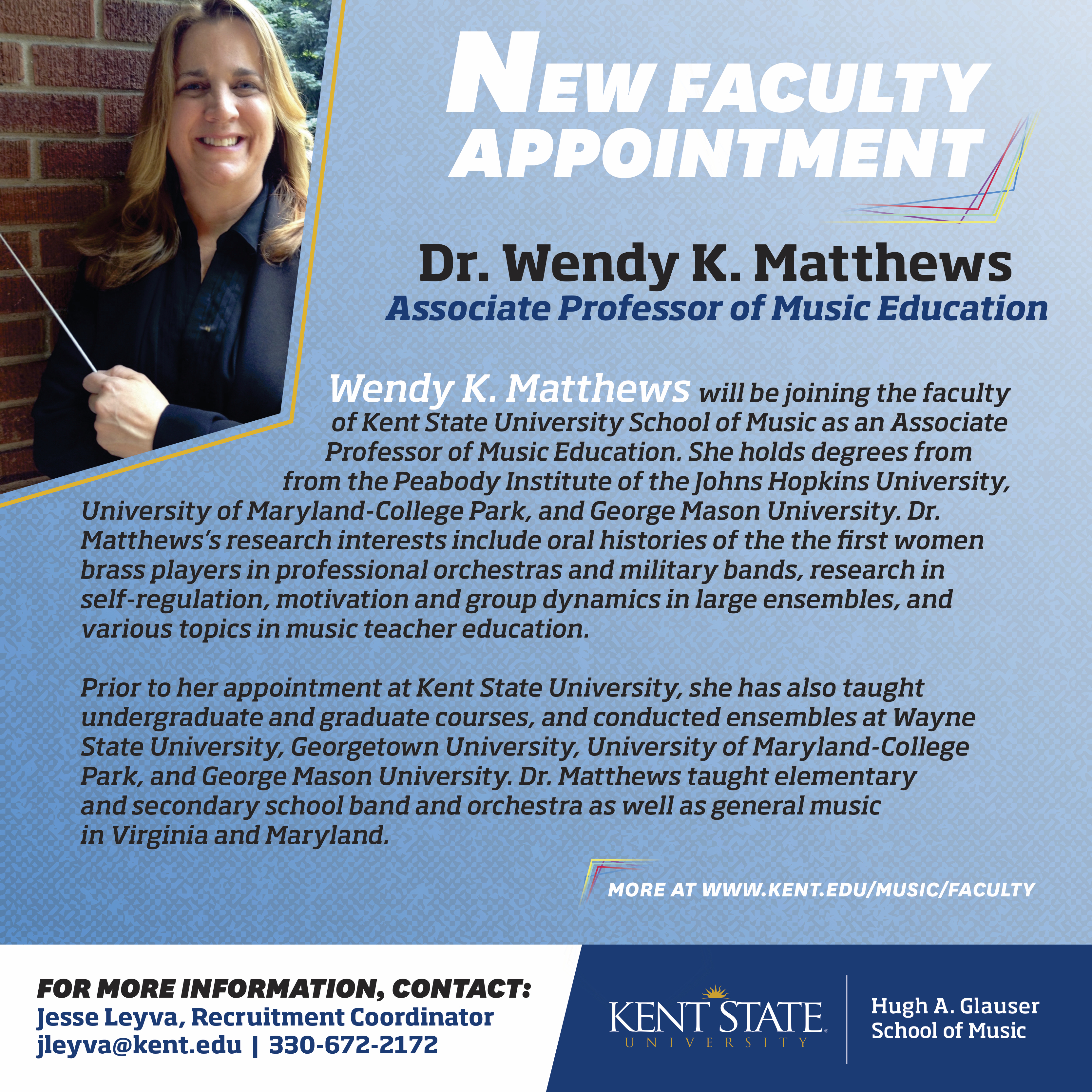 Wendy Matthews New Faculty Announcement.