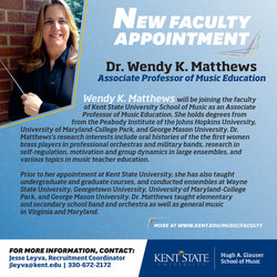 Wendy Matthews New Faculty Announcement.