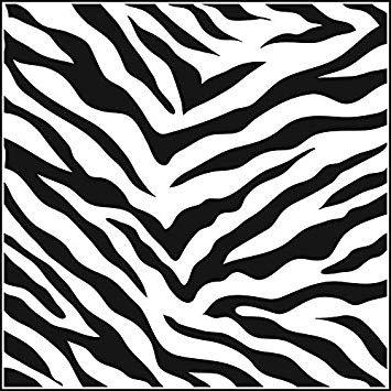 Zebra Print Stencil