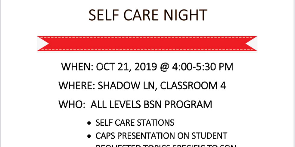 SON and CAPS Self Care Night