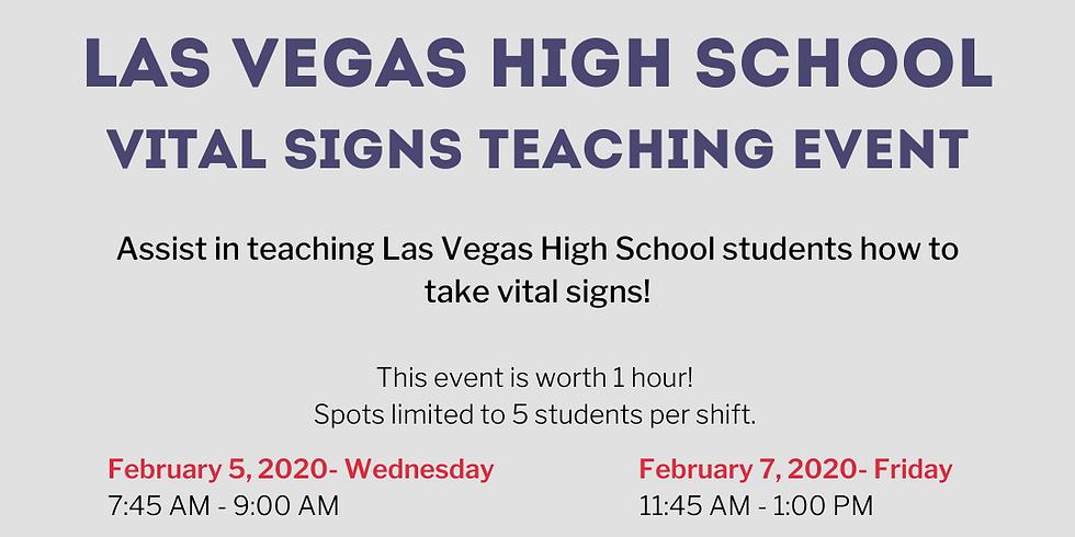 Las Vegas HS Vital Sign Teaching 1st shift