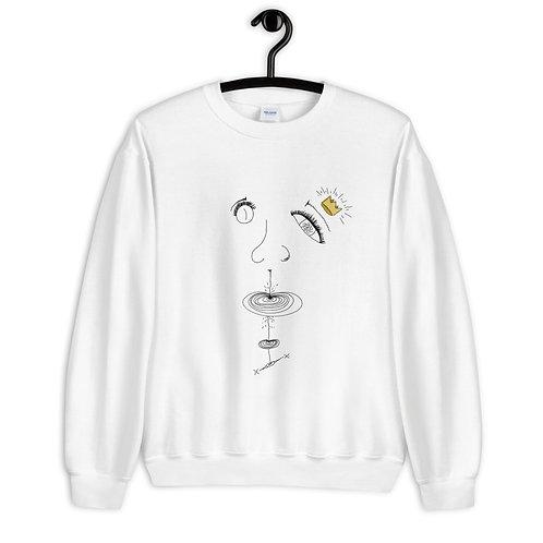 """Inter-Dimensional Crown"" Sweatshirt (White/Grey)"