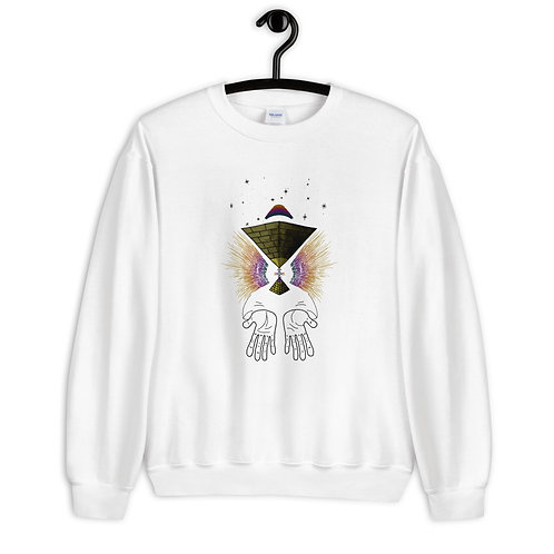 """Astral Shaman"" Sweatshirt (White/Grey)"