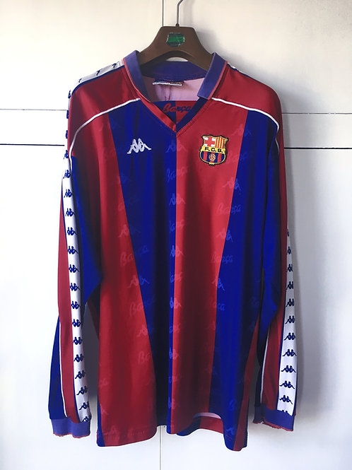 1992-95 Barcelona Home L/S Shirt (Good) XL