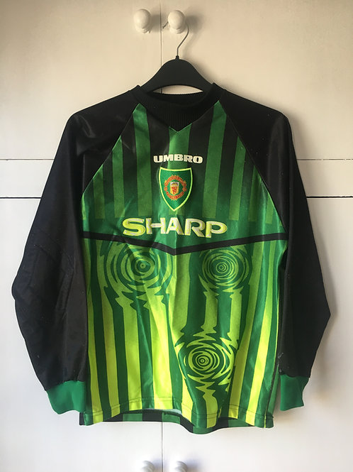 1996-97 Manchester United Green GK Shirt (Very Good) YXL