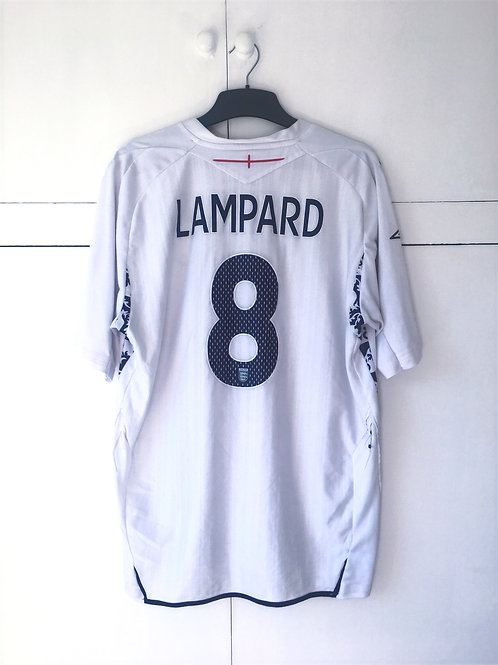 2007-09 England Home Shirt Lampard #8 (Good) XL