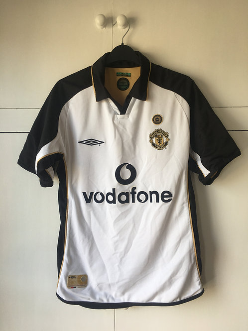 2001-02 Manchester United Centenary Away/Third Shirt (Excellent) S