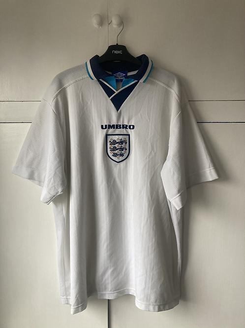 1995-97 England Home shirt (Excellent) XXL