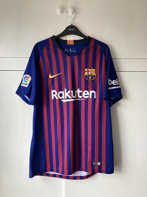 2018-19 Barcelona Home Shirt (Excellent) L