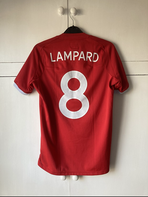 2010-11 ENGLAND AWAY SHIRT LAMPARD #8 (EXCELLENT) LADIES SIZE 10