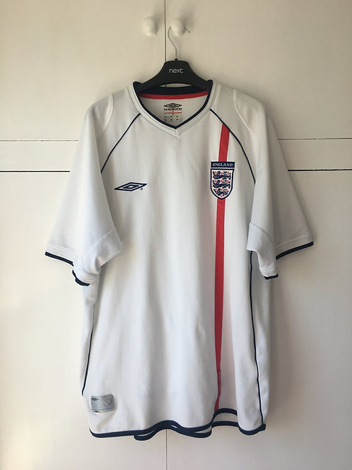 2001-03 ENGLAND HOME SHIRT (GOOD) XL