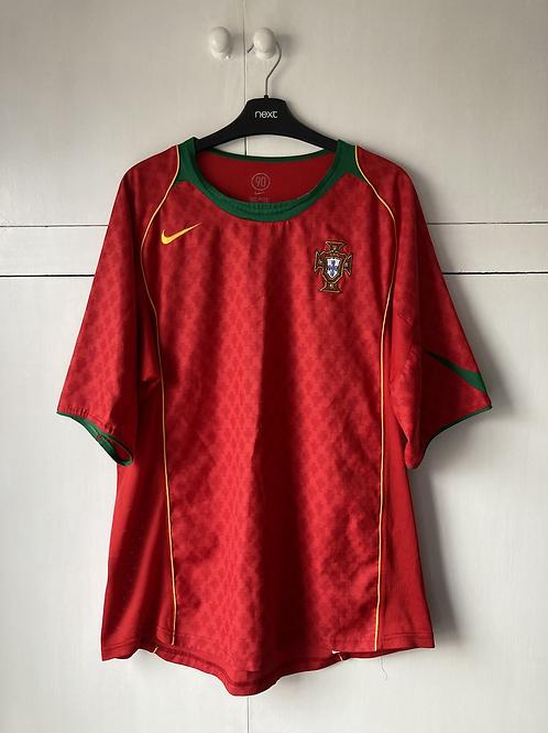 2004-06 PORTUGAL HOME SHIRT (VERY GOOD) XL