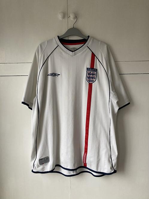 2001-03 ENGLAND HOME SHIRT (GOOD) XL