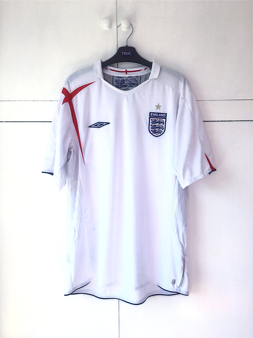2005-07 England Home Shirt (Excellent) L