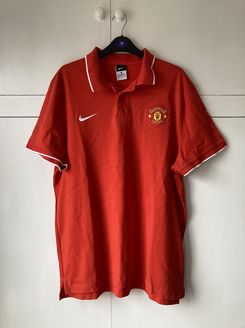 2003-04 MANCHESTER UNITED NIKE POLO T-SHIRT (EXCELLENT) XL