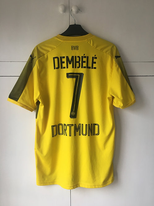 2017-18 Dortmund Home Shirt Dembele #7 (Excellent) M *Reproduction*